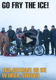 Banner Orsa Ice Race 2013 Harley Chopper Custom Parts Accessories IOE Flathead Knucklehead Panhead Shovelhead Evolution Sportster HotRod