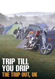 Banner TripOut2016 Harley Davidson PanAm Oil Öl Panamericana Chopper Custom Parts Accessories IOE Flathead Knucklehead Panhead Shovelhead Evolution Sportster HotRod Cyclery Britain Brexit Gentleman Porridge BSA Norton Triumph Matchless Camping Campground Farmlife