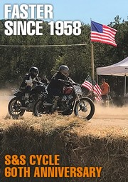 Banner S&S Cycles 60 years anniversary Wisconsin Milwaukee Viola Harley-Davidson HD H-D Flathead Shovelhead Panhead Knucklehead PanAm Flat Track Hooligan Race bar shield Bar'n'Shield Chopper Custom Parts Accessories IOE