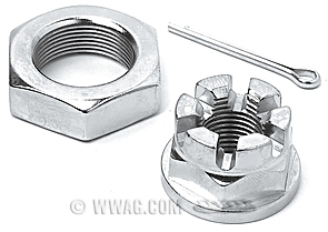 Front Axle Nut Kits for Big Twins →1971