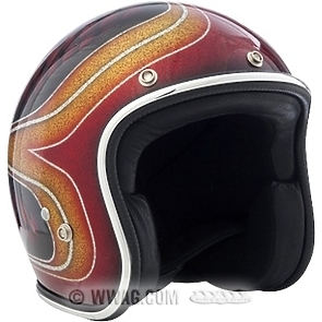 70's Metal Flakes Open Face Helmets