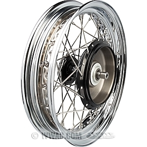 Wheels with Front Half Hub/Brake Drum and Drop Center Steel Rim