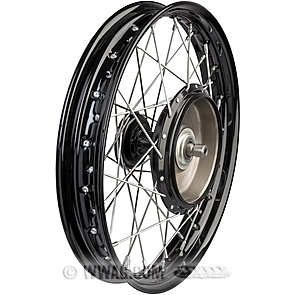 Wheels with Front Half Hub/Brake Drum and Classic Profiled Semi-Drop Center Rim