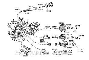 Gear Case Parts for Big Twin OHV 1936-1953