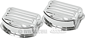 Custom Ribbed Rocker Covers for Panhead