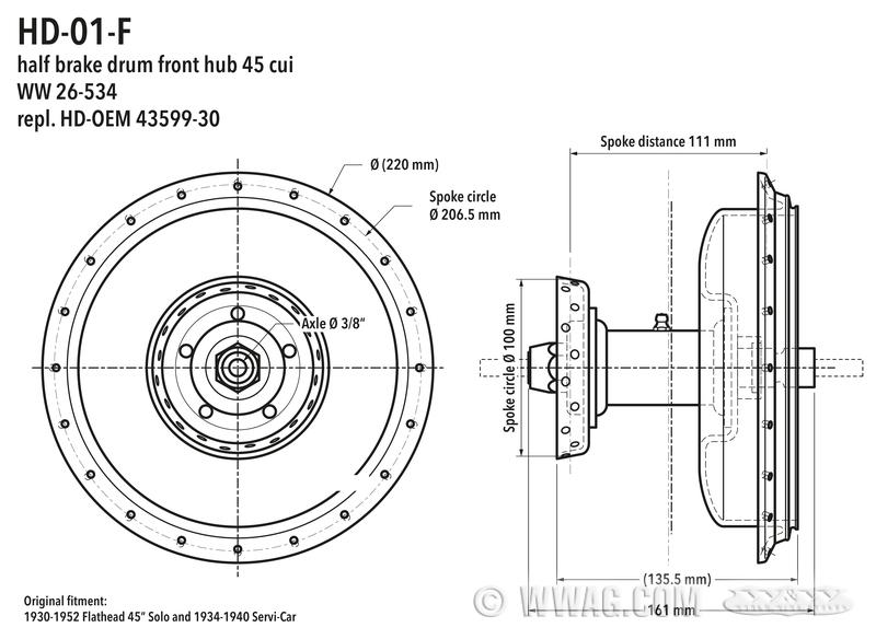 w u0026w cycles  brake drum 45 u201d  750 cc