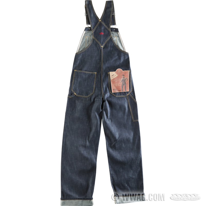 W w cycles apparel and helmets pike brothers mechanic bib 1935 overalls - Roundhouse bib overalls ...