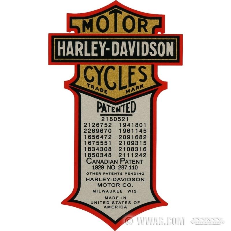 Harley Davidson Oil Tank Decals