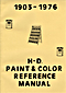 1903-1976 HD Paint and Color Reference Manual
