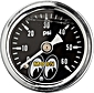 Moon Oil Pressure Gauge
