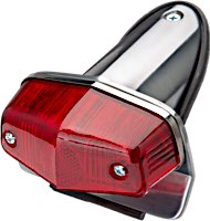 Lucas Type Mini Old Style Taillights with License Bracket