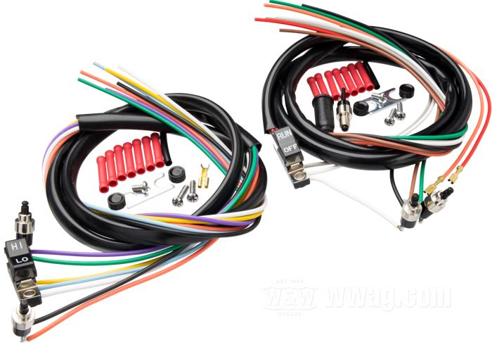 Handlebar Wiring Harnesses with Switches 1972-1981