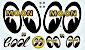 Mooneyes Decal Set