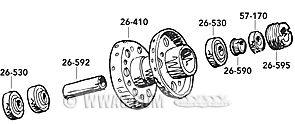 Replacement Parts for Big Twin Hub 1967-1972