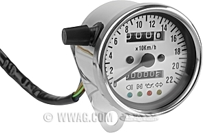 Mechanical Speedometer with Indicator Lamps