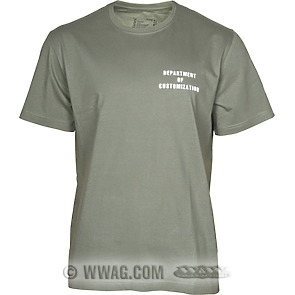 Department of Customization T-Shirts