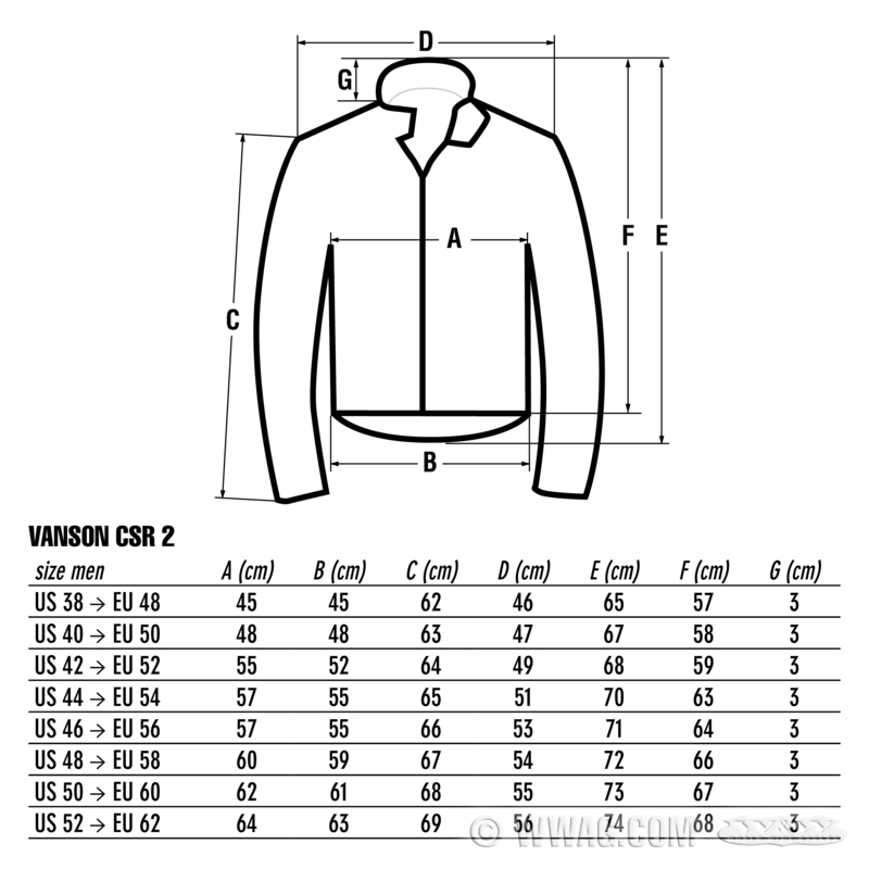 W&W Cycles - Apparel and Helmets > Vanson CSR 2 Leather Jackets