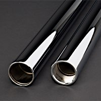 Show-Chromed Fork Tubes for Harleys