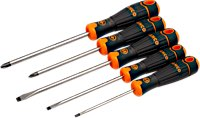 Bahco 5 Flat Tip and Phillips Screwdriver Set