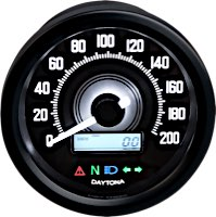 Daytona Velona 60 Electronic Speedometers with Indicator Lights