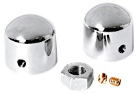 Chrome Front Axle Nut Covers