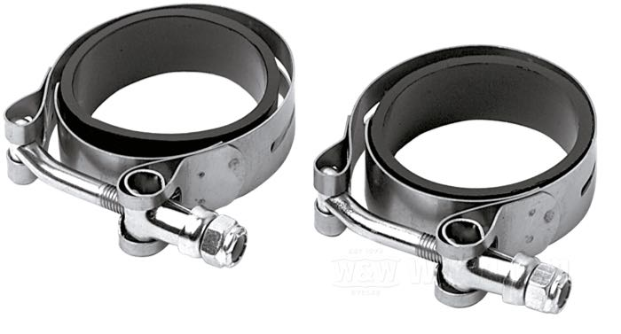 Aircraft Style Rubberband Manifold Clamps