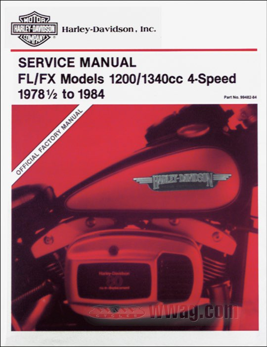 W W Cycles Harley Davidson Service Manuals For Shovelhead