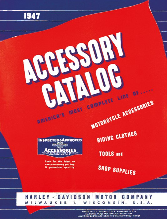"H-D Antique ""Accessories""/""Sales"" Catalogues"