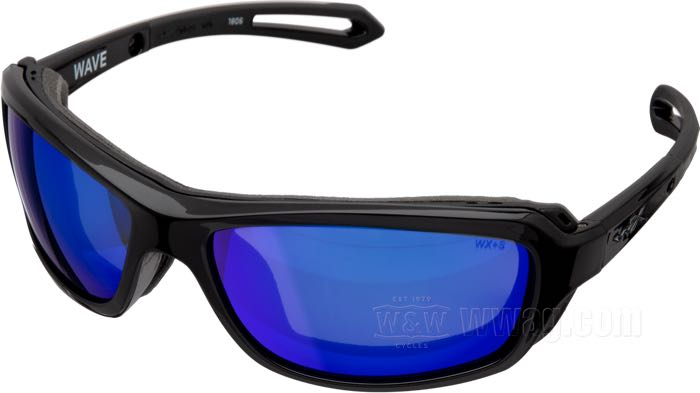 Wiley X Wave Pol Blue Mirror Goggles
