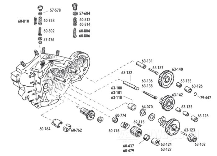Gear Case Parts for Big Twin 1954-1969