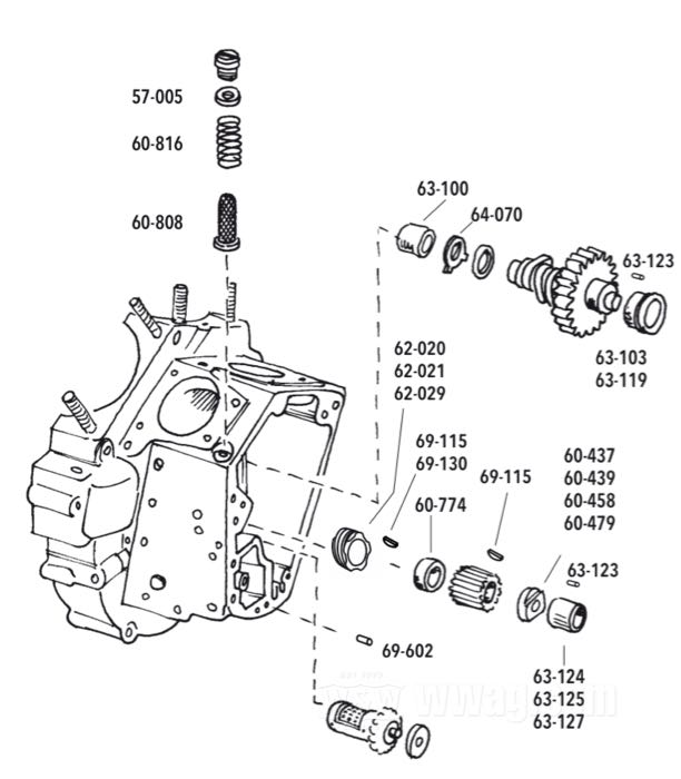 Gear Case Parts for Big Twin 1970-1999
