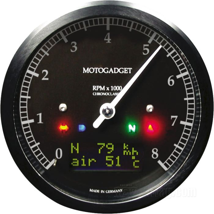 motogadget Chronoclassic Multifunctional Instruments
