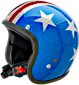 70's Metal Flakes Open Face Helmets - Captain America